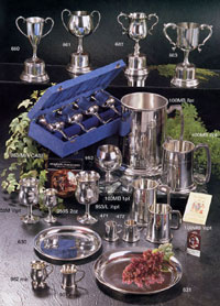 Click for Pinder Bros. range of fine pewter